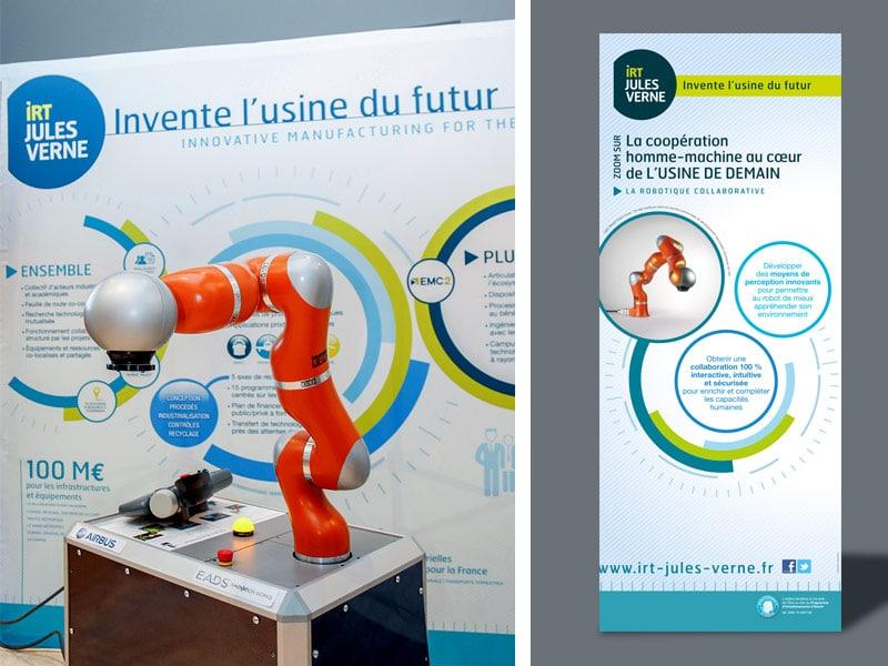Photo du stand avec présentation d'un robot