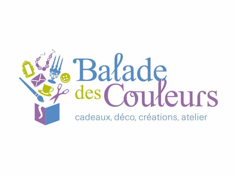 Création graphique de logo pour Balade des Couleurs, par Caroline Prouvost, graphiste à Nantes