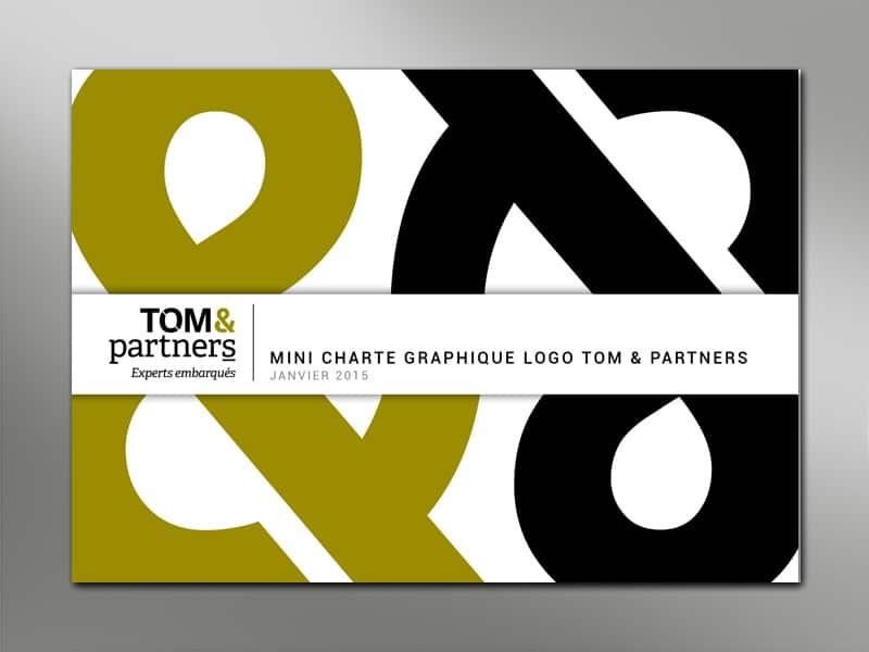 Création de l'identité visuelle et de la charte graphique pour le cabinet de de conseil Tom & Partners, accompagnant les dirigeants d'entreprise.