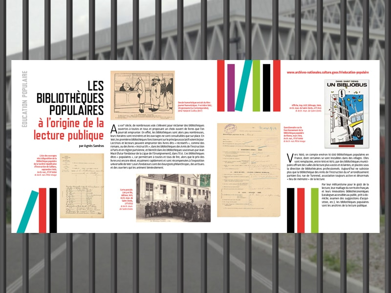 """Exposition """"Éducation populaire"""" aux Archives nationales"""