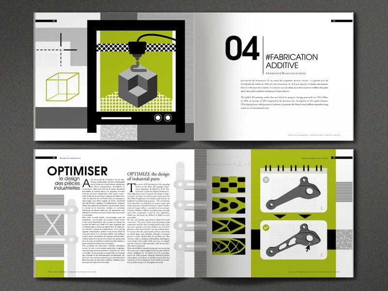 Graphic design : École polytechnique Paris Saclay, Rapport annuel 2018